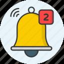 bell, alarm, alert, notification, ring