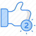 like, notification, like notification, comment, favorite, feedback icon