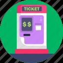 public, transport, ticket, shop