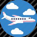 public, transport, airplane, flight, transportation