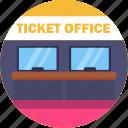 public, transport, ticket, office, transportation