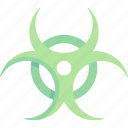 biohazard, caution, hazard icon