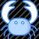 crab, carb, lobster, sea animal, seafood, velvet crab icon