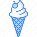 cold, cone, food, icecream, sweet, weather icon
