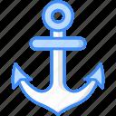 anchor, marine, nautical, navy, sea, ship, vintage icon