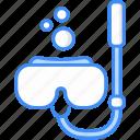 diving, goggles, leisure, scuba, snorkeling, snorkel, travel icon