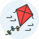 activity, cloud, fly, kite, summer, wind icon