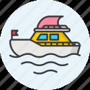 boat, sailboat, sailing boat, sailing ship, yacht icon