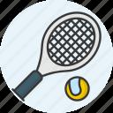 tennis, sports, racket, sport, tennis ball icon