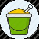 sand basket, basket, bucket, sand, beach icon