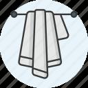 bath, bathroom, towel, wet icon