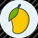 food, fruit, mango, organic, vegan, vegetarian icon