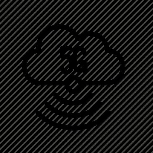 5g, cloud, data, internet, network, server, techology icon
