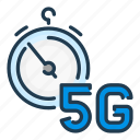 5g, fast, network, speed, stopwatch, timer
