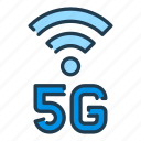 5g, internet, network, signal, wifi icon