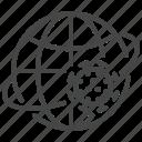 coronavirus, globe, orbit, virus, world