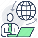 globe, home, online, remote, work, workplace