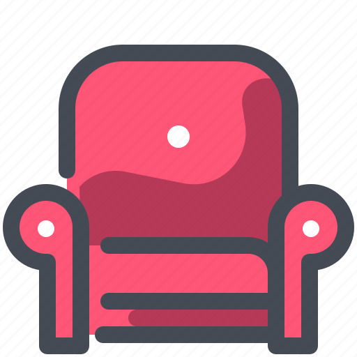 Armchair, chair, game, gaming icon