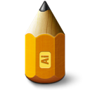 1281white0, 48, adobe, illustrator, pencil icon