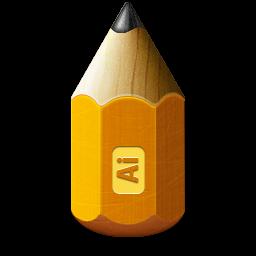 1281white0, 48, adobe, illustrator, pencil icon