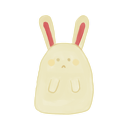 ak, bunny, sad icon