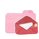 ak, candy, folder, mail icon