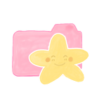 ak, candy, folder, happy, starry icon