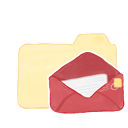 ak, folder, mail, vanilla icon