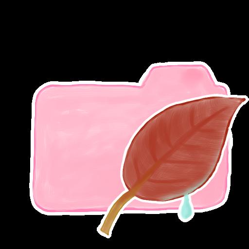 ak, candy, folder, leaf icon