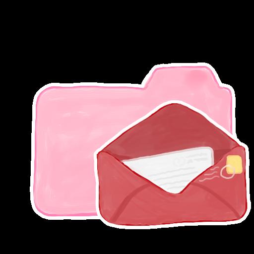 ak, candy, folder, mail icon
