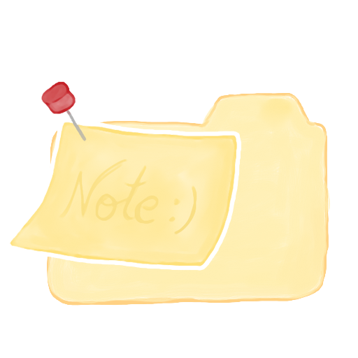 ak, folder, note, vanilla icon