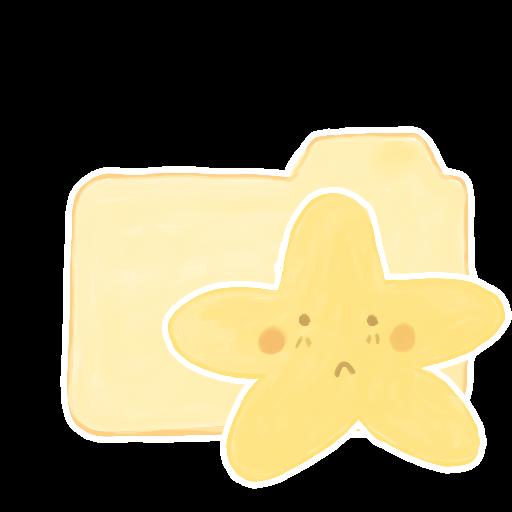 ak, folder, sad, starry, vanilla icon