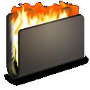 burn, folder