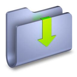 arrow, down, downloads, folder icon