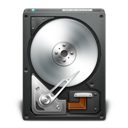 black, disk, drive, harddisk, opendrive icon