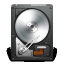 black, disk, drive, harddisk, opendrive icon