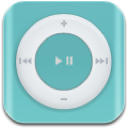 music, shuffle, teal icon