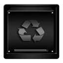 empty, gold, trash icon
