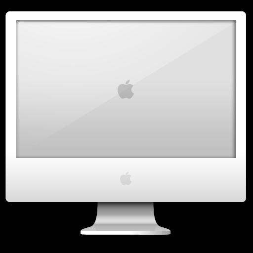 computer, white icon