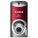 canon, digital, ixy, l, red icon