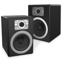 experience, speakers, twin icon