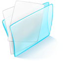 blue, dossier, papier icon