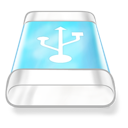 blue, drive, usb icon