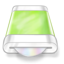 disk, drive, green