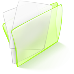 dossier, green, papier icon
