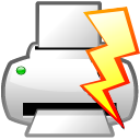 file, power, print, quick icon