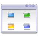 folders, user interface, window icon