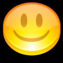 button, face, good, happy, smile, yellow icon