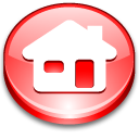 home, house, red icon