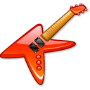 electric, guitar, instrument, metal, music, rock icon
